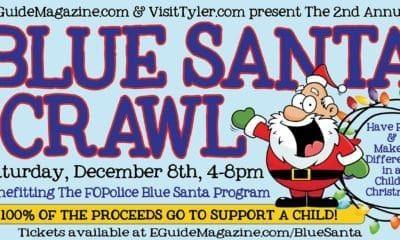 Blue Santa Pub Crawl Police Tyler TX